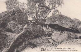 Cp , 77 , FONTAINEBLEAU , La Forêt , Rendez-vous Des Fiancés (Rocher Des Demoiselles) - Fontainebleau