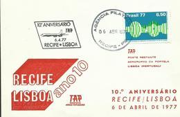 BRASIL, SOBRE 10º ANIVERSARIO RECIFE/LISBOA - Brasil