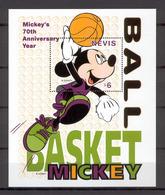Disney Nevis 1998 Mickey - Basketball MS #4 MNH - Disney