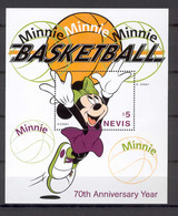 Disney Nevis 1998 Mickey - Basketball MS #3 MNH - Disney