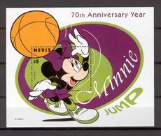 Disney Nevis 1998 Mickey - Basketball MS #2 MNH - Disney