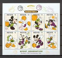 Disney Nevis 1998 Basketball Sheetlet #1 MNH - Disney