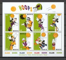 Disney Nevis 1998 Basketball Sheetlet #2 MNH - Disney