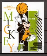 Disney Nevis 1998 Mickey - Basketball MS #1 MNH - Disney