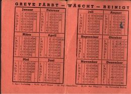 ! 1950 Taschenkalender Wäscherei Greve Kiel - Calendriers