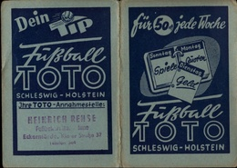 ! 1953 Taschenkalender Mit Reklame Für Fußball Toto Schleswig-Holstein, Eckernförde, Football - Kleinformat : 1941-60