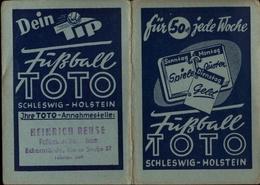 ! 1953 Taschenkalender Mit Reklame Für Fußball Toto Schleswig-Holstein, Eckernförde, Football, Calender, Old Paper - Kleinformat : 1941-60