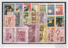 VATICANO:  1976  ANNATA  CPL. -  20  VAL. N. -  SASS. 593/609 + PA 60/62 - Annate Complete