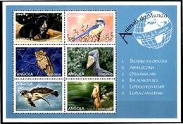 ANGOLA 1999** - Animali In Via D'estinzione - Block Di 6 Val. MNH, Come Da Scansione. - Angola