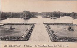 Cp , 78 , RAMBOUILLET , Le Château , Vue D'ensemble Des Canaux Et Du Parterre - Rambouillet (Kasteel)