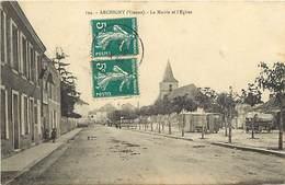 - Vienne - Ref-A422-  Archigny - Mairie Et Eglise - Roulotte Sur La Place - Roulotte - Romanichels - Carte Bon Etat - - Frankreich