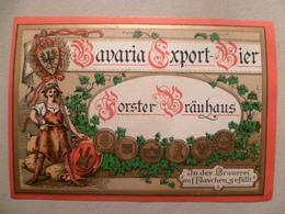 étiquette Ancienne Brasserie  BAVARIA EXPORT BIER Forster Brauhaus - Beer