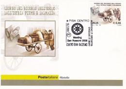 ITALIA  MARCOFILIA PISA MEETING SAN ROSSORE 2008 CONTRO OGNI RAZZISMO 2008 - 6. 1946-.. Repubblica