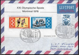 GERMANY - FOGLIETTO MONTREAL 1976 SU BUSTA - ANNULLO SPECIALE BERLIN ZENTRUM OTTO LIENTHAL 23.05.1998 - Estate 1976: Montreal