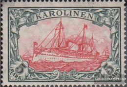 Carolines (German.Colony) 22I A Tested With Hinge 1915 Ship Imperial Yacht Hohenzollern - Colony: Caroline Islands