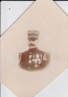 Photo  Originale  Militaires Capitaine Du 51 Eme D'infanterie Nombreuse Médailles Régiment Situer A Beauvais Oise - Guerre, Militaire