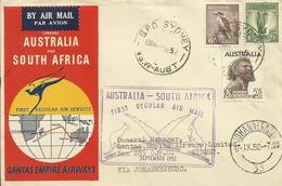 AUSTRALIA, SOBRE AEREO - 1937-52 George VI