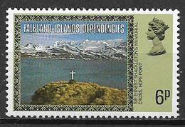 COLONIE INGLESI  FALKLAND DEPENDENCIES 1980  ORDINARIA YVERT. 82 MNH XF+ - Falkland