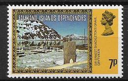 COLONIE INGLESI  FALKLAND DEPENDENCIES 1980  ORDINARIA YVERT. 83 MNH XF+ - Falkland
