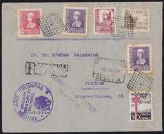 GUERRA CIVIL. 1939. SEGOVIA A POSTDAM (ALEMANIA). ESPECTACULAR FRANQUEO. - 1931-Today: 2nd Rep - ... Juan Carlos I