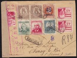 GUERRA CIVIL. 1936. BARCELONA A CHOISY-LE-ROI (FRANCIA). ESPECTACULAR FRANQUEO. MUY BONITA. - 1931-Hoy: 2ª República - ... Juan Carlos I