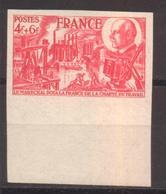 Charte Du Travail YT 608 De 1944 Sans Trace De Charnière Tirage 475 Exemplaires Rare Sans Charnière - France