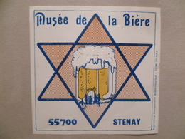 Ancienne Brasserie MUSEE DE LA BIERE STENAY ( Autocollant ) - Bière