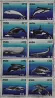 ARUBA 2012 ++  SHEET  ++ WALVIS WHALE BALEINE  ORKA ORCA SERIE MNH POSTFRIS ** - Curaçao, Nederlandse Antillen, Aruba