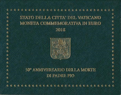 Vatikanstadt 2018 Stgl./unzirkuliert Auflage: 94.000 Stgl./unzirkuliert 2018 2 Euro Pater Pios - Vaticano