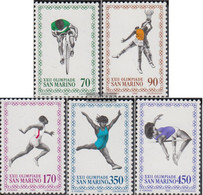 San Marino 1214-1218 (complete Issue) Unmounted Mint / Never Hinged 1980 Olympics Summer'80 Moscow - Unused Stamps