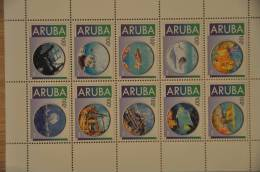 ARUBA  2012 SERIE ONDER WATER UNDER WATER SANS L'EAU BLANCO BLANK - Curaçao, Nederlandse Antillen, Aruba