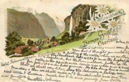 SWITZERLAND - Grus Vom Berner Oberland - Staubbach - 1895 Vignette - Undivide Rear - BE Berne