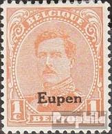 Belgische Post Eupen 1 Gestempelt 1920 Albert I. - Guerre 14-18