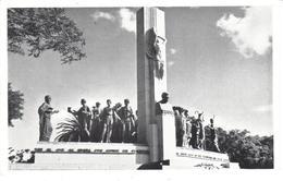 POSTAL    MONTEVIDEO -URUGUAY   - MONUMENTO A JOSE E. RODO-PARQUE RODO - Uruguay
