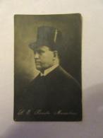 """Carte Postale Italie - Portrait De Mussolini - Carte En Franchise Cachet """"Fascio Femminile"""" ALBA - Le 20 Août 1927 - Personnages"""