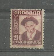 EDIFIL Nº 48**  1948     NUMERACION  0000 AL DORSO - Andorra Española