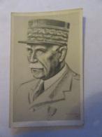 Carte Postale Illustrateur Signée Et Datée 1941 - Portrait Du Maréchal Pétain - Non-circulée - Personnages