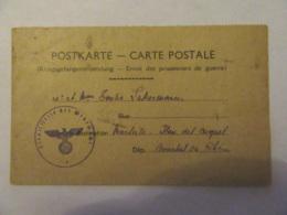 Carte Postale - Kriegsgefangenensendung / Envoi Des Prisonniers De Guerre - Vers Marseille - Franchise - Guerre 1939-45