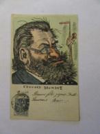 Carte Postale Satirique Illustrateur - Caricature D'Edouard Drumont - Carte Couleur Circulée Le 23 Décembre 1903 - Satiriques
