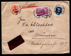 A5771) DR Infla Express-Flugpostbrief Berlin 08.10.20 N. München M. Mi.115 - Deutschland