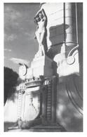 POSTAL    MONTEVIDEO -URUGUAY   - DETALLE DEL MONUMENTO BRUNO M.ZABALA FUNDADOR DE MONTEVIDEO - Uruguay