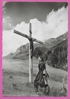 74 Haute Savoie Croix Représentant Le Christ Sur La Route De La Giettaz Col Des Aravis Env De La Clusaz Annecy - France