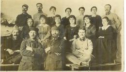 Carte Photo Soldats Du 116° Régiment !!! Avec Leurs épouses , Non écrite - Guerre 1914-18