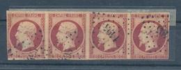 N°17 BANDE DE 4 TIMBRES - 1853-1860 Napoleon III