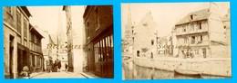 Seine Maritime Le Havre * HARFLEUR En 1900 * 2 Photos Originales - Voir Scans - Places