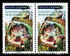 """Andorre 2012 Légende """" La Boutique Des Sorcières """" ( Paire ) - Unused Stamps"""