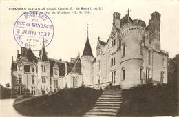 CHATEAU DE Candé, Résidence Du Duc De Windsor; Cachet Du Mariage Du Duc En 1937. - France