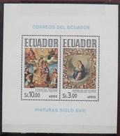 Ecuador Virgen Del Rosario Virgen De Las Flores Pinturas Siglo XVIII Aereo ** MNH - Equateur