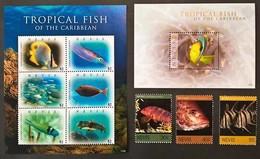 Nevis 2011** Mi.2614-17,klb.2618-23 + Bl.304 Tropical Fish Of The Caribbean MNH [12;43] - Birds