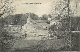 - Vienne -ref-A395- Quinçay - L Eglise Et Son Quartier - Carte Bon Etat - - Frankreich